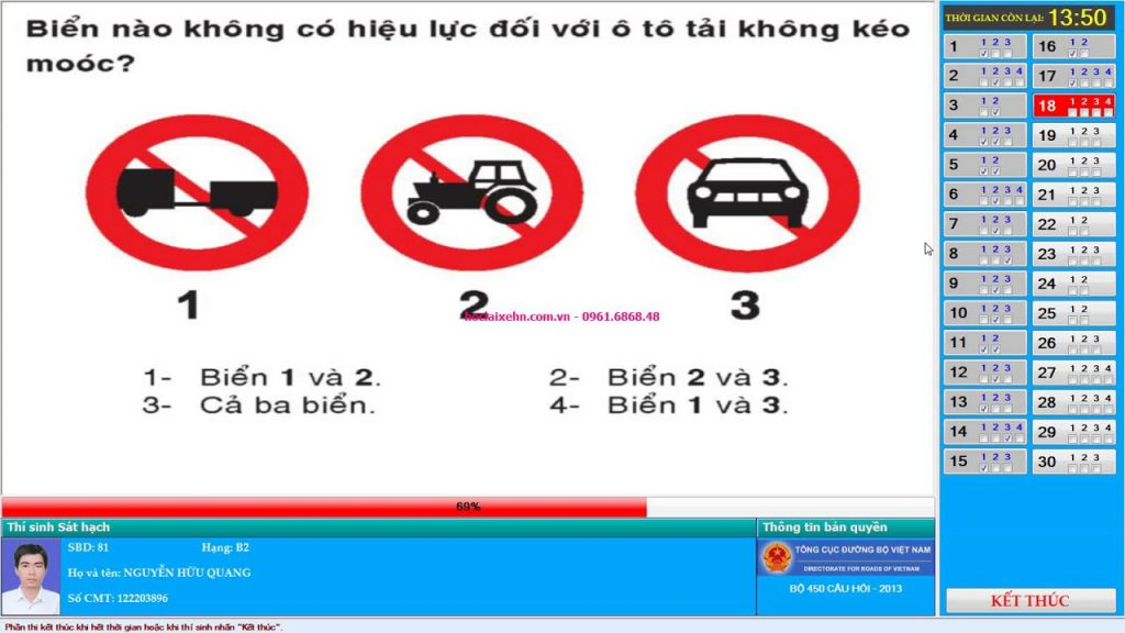 Mẹo thi bằng lái xe B2 chính là chỉ cần lưu ý một số từ khóa có trong 600 câu hỏi