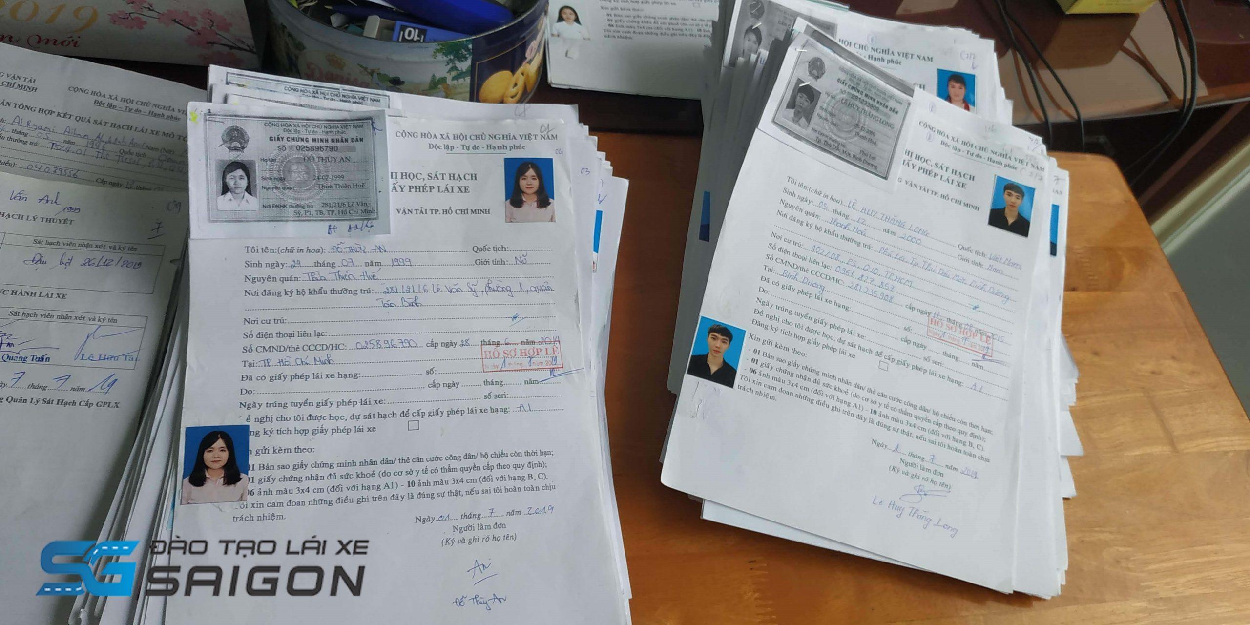 Những giấy tờ, hồ sơ cần chuẩn bị khi đăng ký thi bằng lái xe máy ở Hà Nội