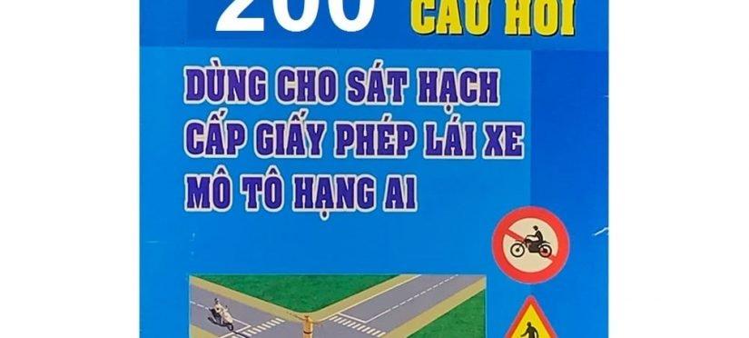 thi bằng lái xe máy bao nhiêu câu