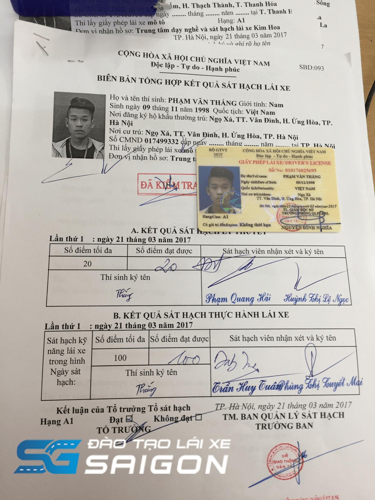 Mất bằng lái xe A1 không còn hồ sơ gốc sẽ không được cấp giấy phép lái xe trở lại