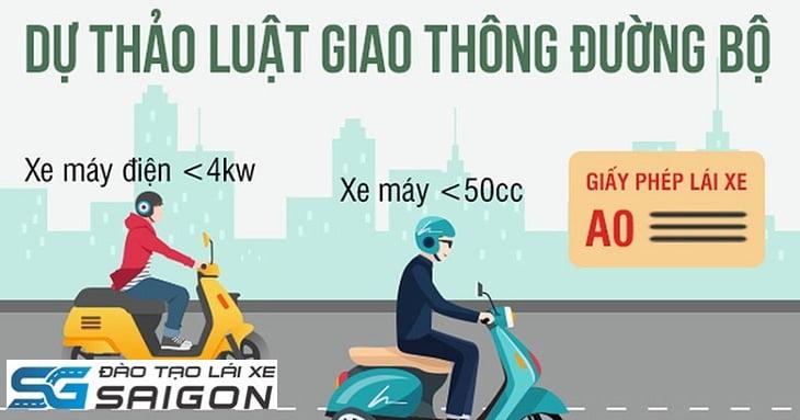 Yêu cầu cho người đi xe đạp điện phải có bằng lái xe hạng A0.