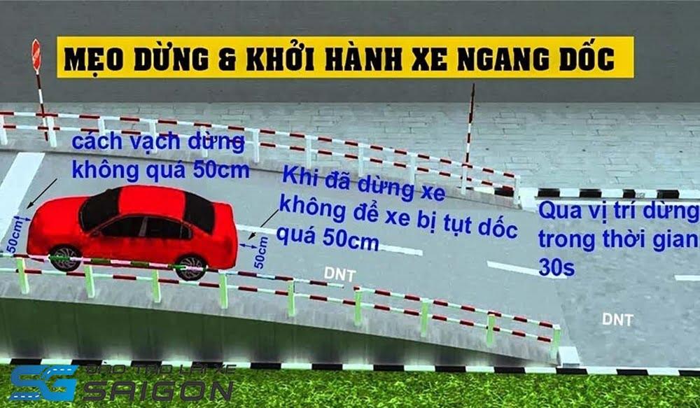 học lái xe B2 lên dốc